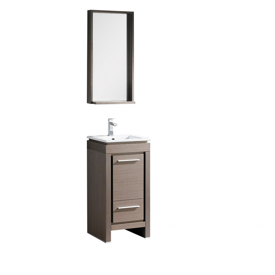 165 Inch Gray Oak Bathroom Vanity With Matching Mirror with sizing 900 X 900
