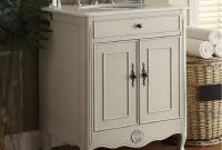 26 Inch Bathroom Vanity Cottage Beach House Distressed Vintage inside proportions 1070 X 1080