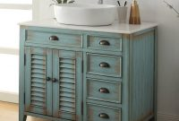 36 Benton Collection Distress Blue Abbeville Vessel Sink Bathroom within proportions 1024 X 1013
