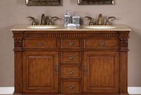 55 Inch Furniture Style Double Sink Bathroom Vanity with regard to proportions 900 X 900