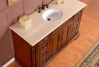58 Inch Marble Stone Counter Top Bathroom Single Sink Vanity Cabinet throughout size 1000 X 1000