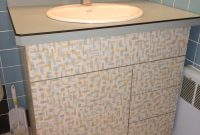 A Bathroom Vanity Made With Wilsonarts Patterned Betty Laminate throughout dimensions 1000 X 1333