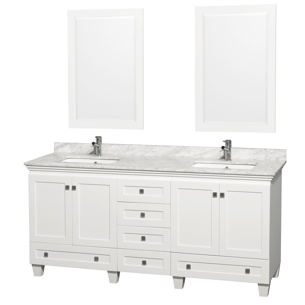 Acclaim 72 White Bathroom Vanity Set Four Functional Doors Six pertaining to measurements 1000 X 1000