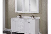Accos 60 Inch White Double Bathroom Vanity Cabinet With Medicine regarding size 1109 X 1000