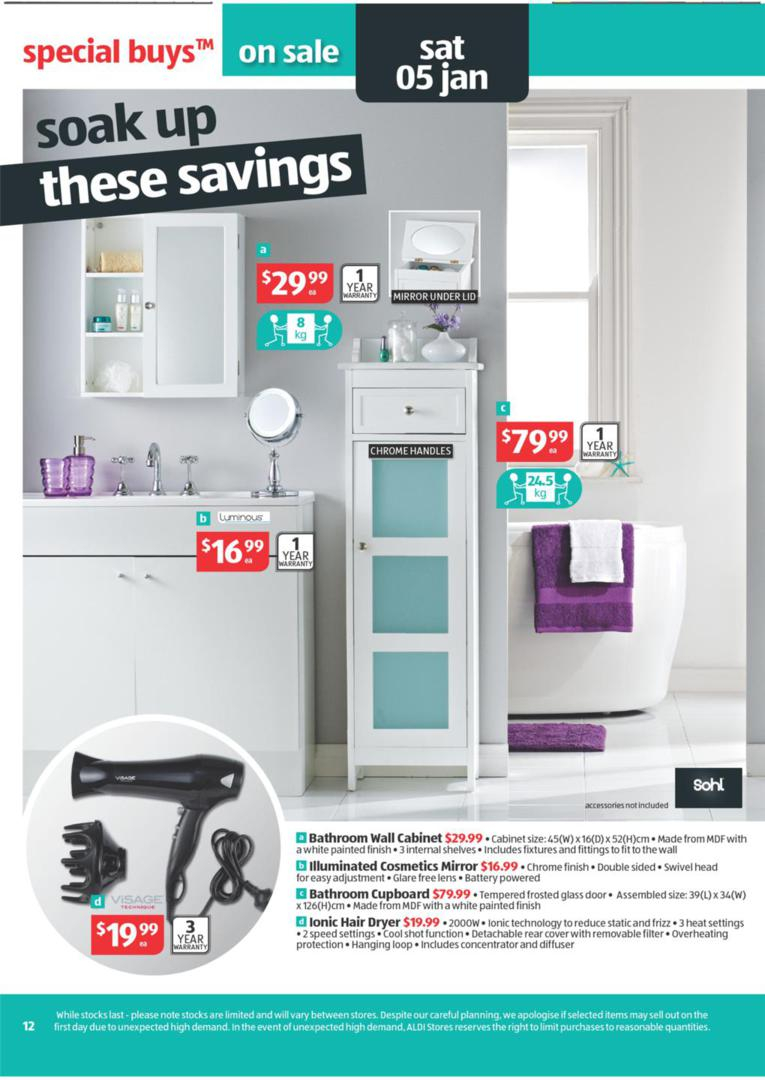 Aldi Catalogue Special Buys Wk 52 January Page 12 pertaining to proportions 765 X 1080