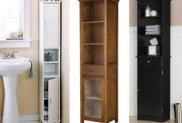Amazing Narrow Bathroom Cabinets 1 Tall Narrow Bathroom Storage for proportions 1024 X 775