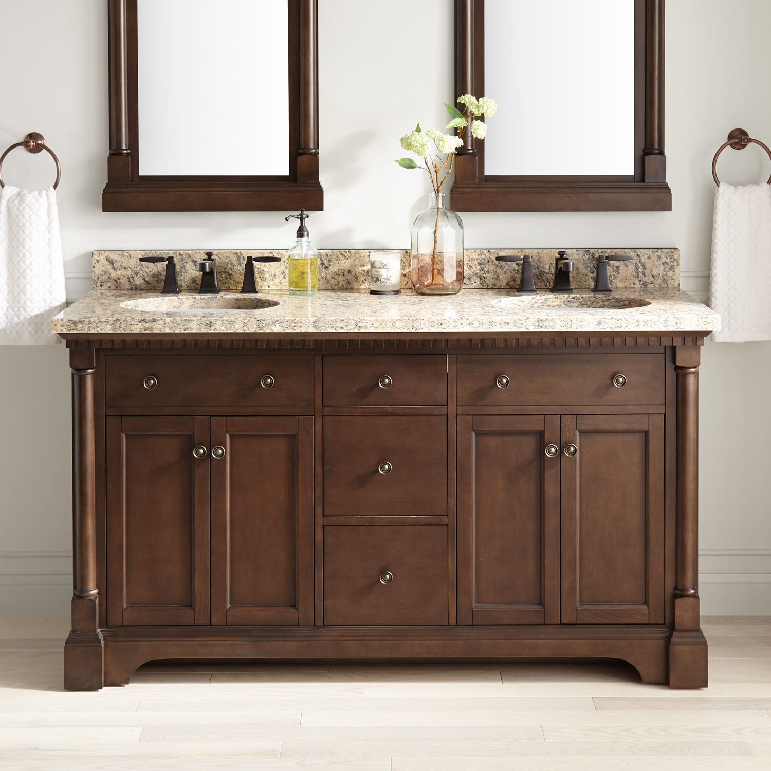 Antique Style Bathroom Vanity Signature Hardware with size 1500 X 1500