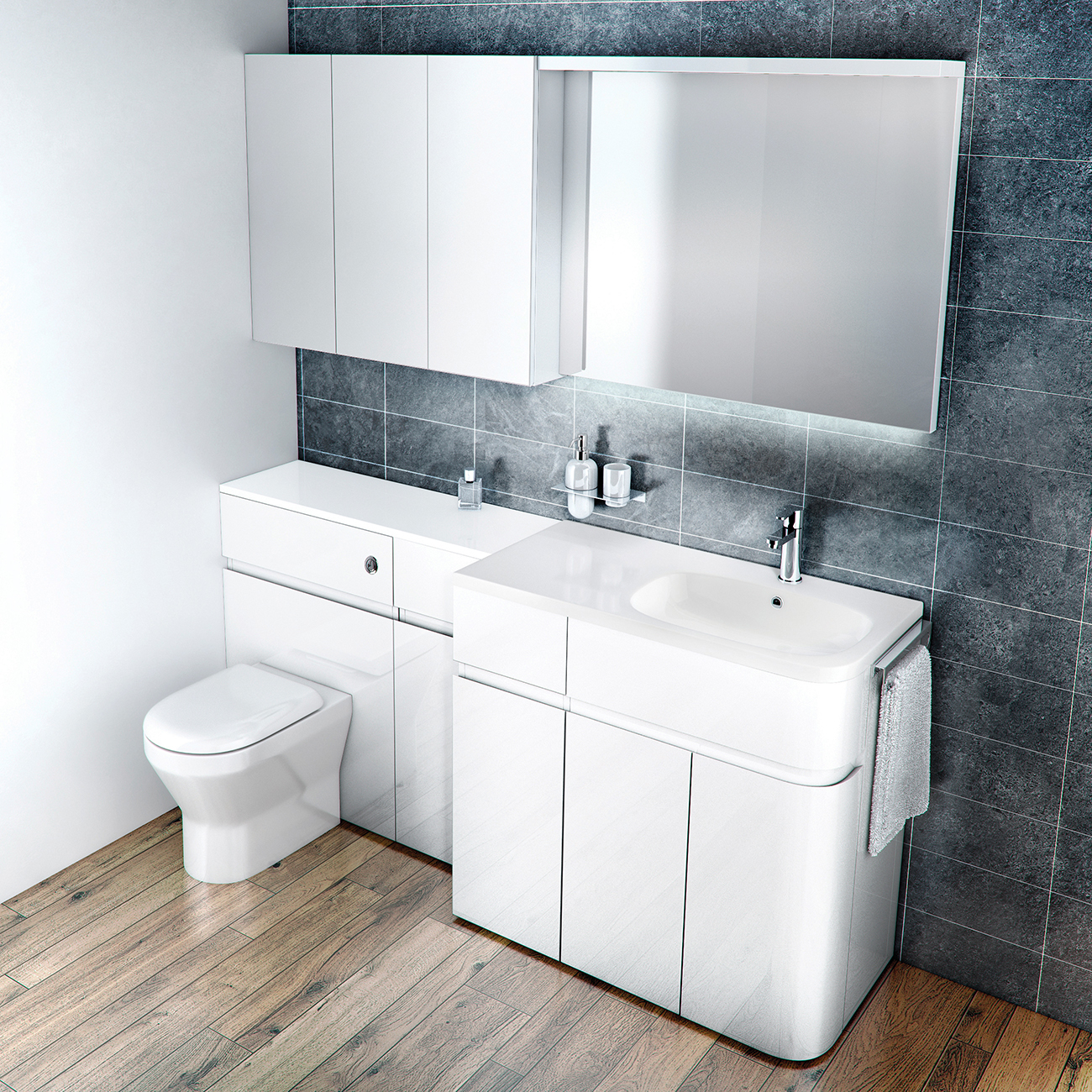 Aqua Cabinets D450 Fitted Bathroom Furniture Uk Bathroom pertaining to measurements 1300 X 1300