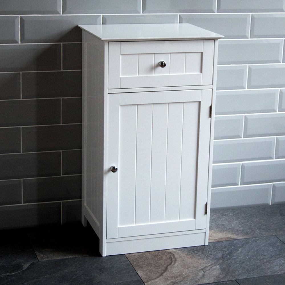 Bathroom Cupboard 1 Door 1 Drawer Floor Standing Cabinet Drawer regarding size 1000 X 1000