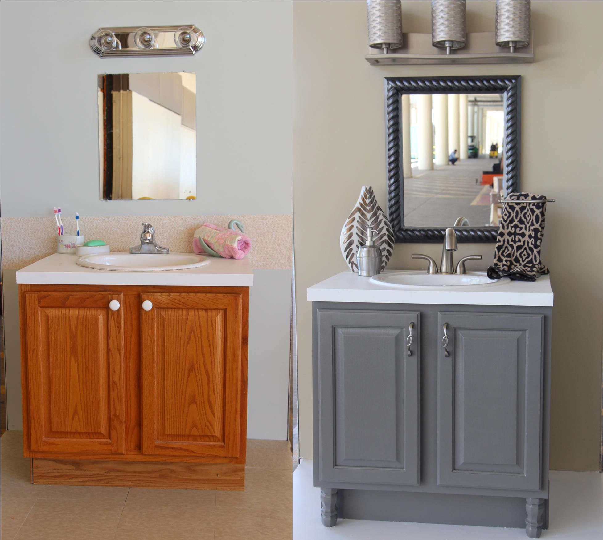 Bathroom Updates You Can Do This Weekend For The Home Grey intended for dimensions 1956 X 1754