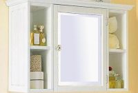 Bathroom Wall Cabinets Distressed White Cabinet Bathroom Cabinet within size 1024 X 866