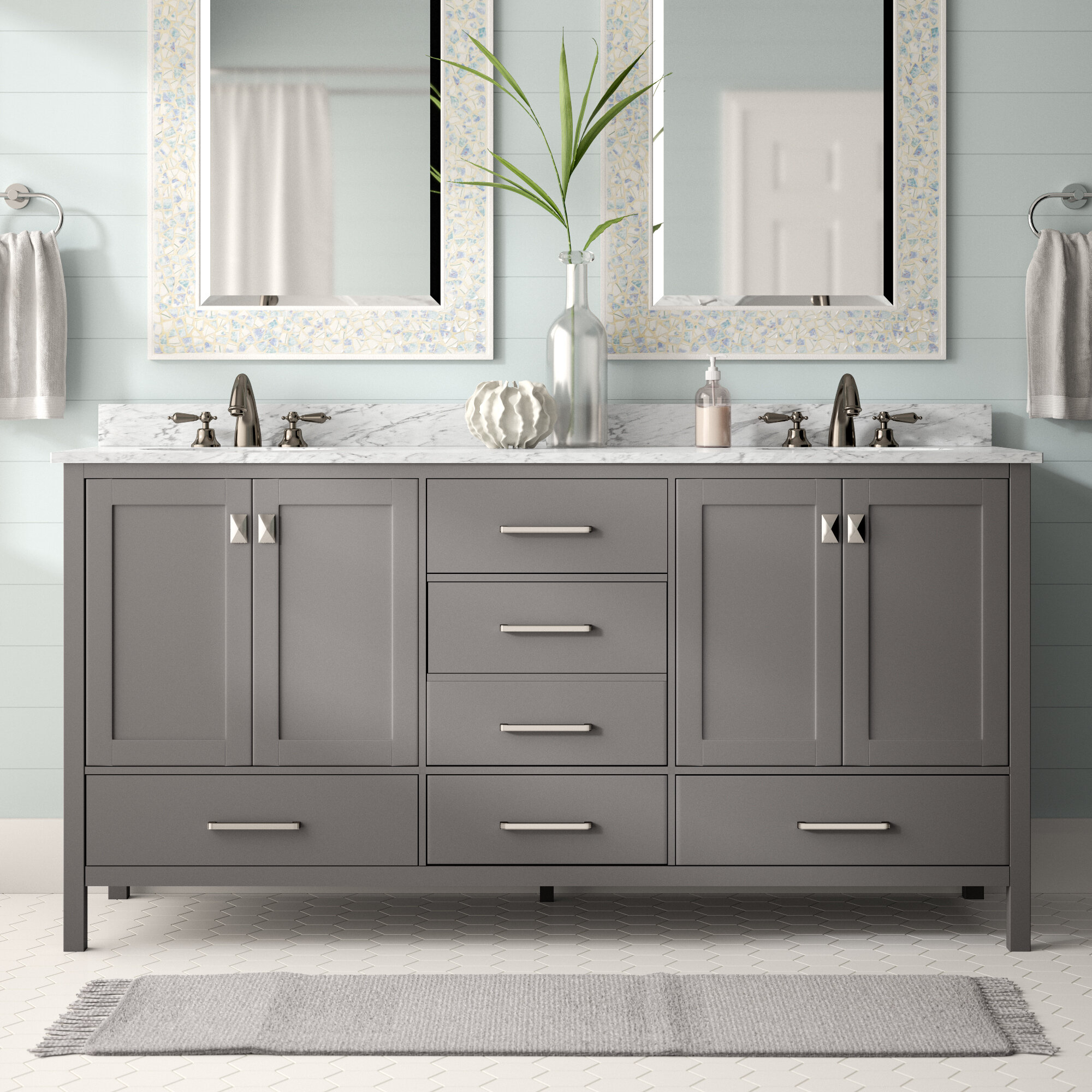 Beachcrest Home Newtown 72 Double Bathroom Vanity Set Reviews with size 2000 X 2000