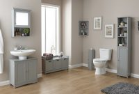Colonial Grey Wood Bathroom Furniture Cupboards Cabinets Storage with sizing 2200 X 1372