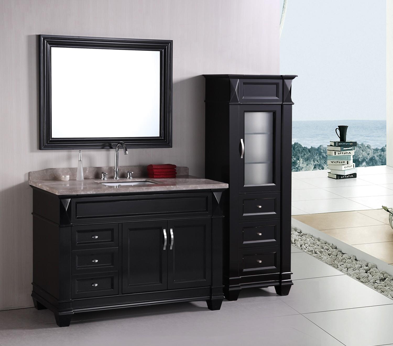 Design Element Hudson Single 48 Inch Transitional Bathroom Vanity inside size 1500 X 1321