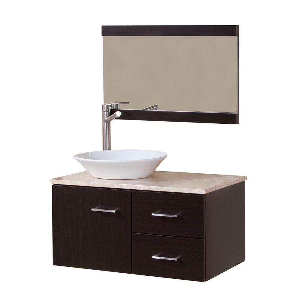 Domani Sicily 30 In W X 19 In D Bathroom Vanity Combo In Ebony within size 1000 X 1000