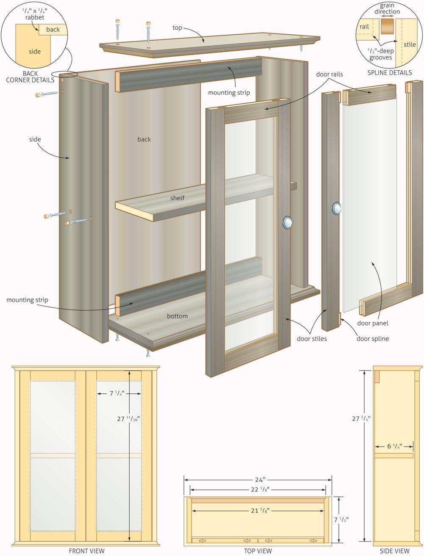 bathroom wall cabinet plans • cabinet ideas