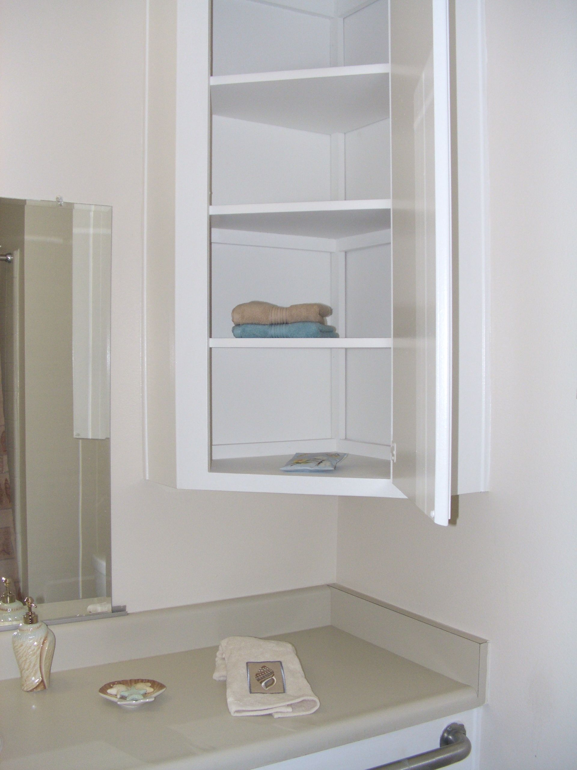 Furniture Wall Mounted Bathroom Corner Cabinet With Shelf And Within inside sizing 1920 X 2560
