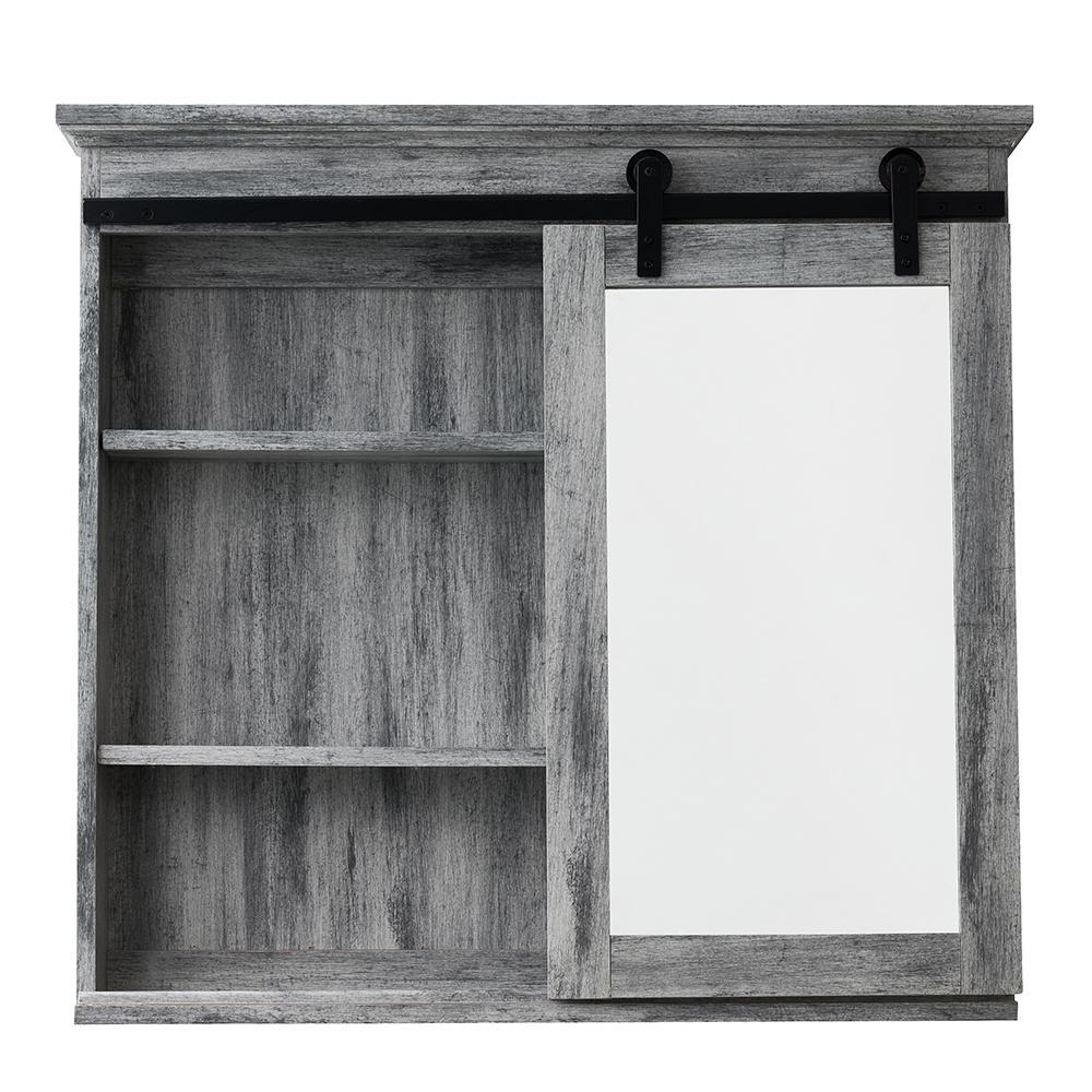 Glacier Bay 31 In X 29 In Barn Door Medicine Cabinet Sp5675 The within dimensions 1000 X 1000