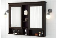 Hemnes Mirror Cabinet With 2 Doors Black Brown Stain 32 58x6 1 with regard to proportions 2000 X 2000