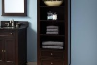 Keller Mahogany Linen Storage Cabinet Dark Espresso Small Master throughout measurements 1500 X 1500