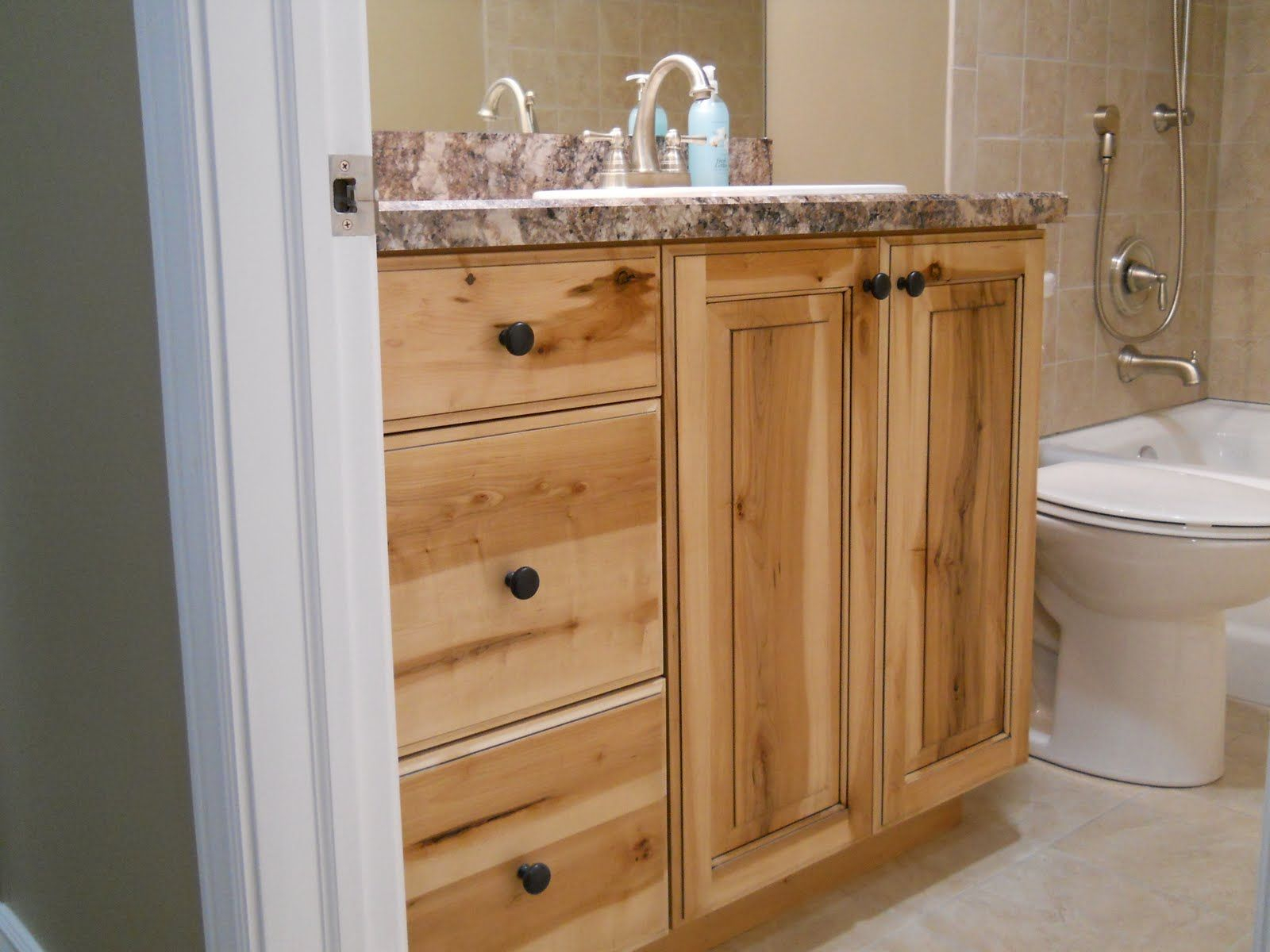 Knotty Pine Cabinetrustic Bathroom Vanities Newly Finished within size 1600 X 1200