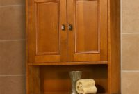 Light Brown Wooden Wall Cabinet With Double Doors Also Shelf Under with sizing 1138 X 1300