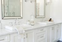 Neutrals A Pop Of Pink Win In This Blogger Home Bathrooms regarding proportions 2767 X 4159