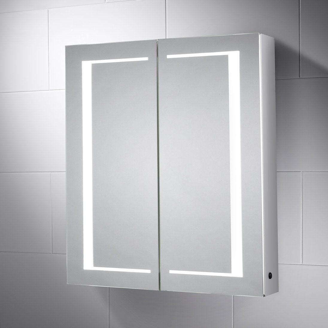 Nimbus Led Illuminated Double Sided Bathroom Cabinet Mirror Pebble with regard to size 1096 X 1096