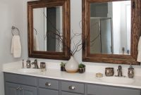 Painted Bathroom Cabinets Gray And Brown Color Scheme Decorating for proportions 750 X 1125