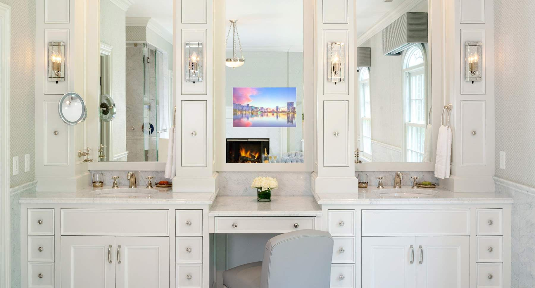 Perfect As A Bathroom Tv Mirror Above A Vanity In A Dressing Room with dimensions 1800 X 969
