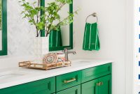 This Gorgeous Green And White Bathroom Is A Preppy Dream Two regarding sizing 966 X 1449