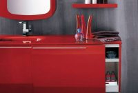 Trendy And Attractive Modern Red Bathroom Furniture Artesi Cute with measurements 1200 X 899