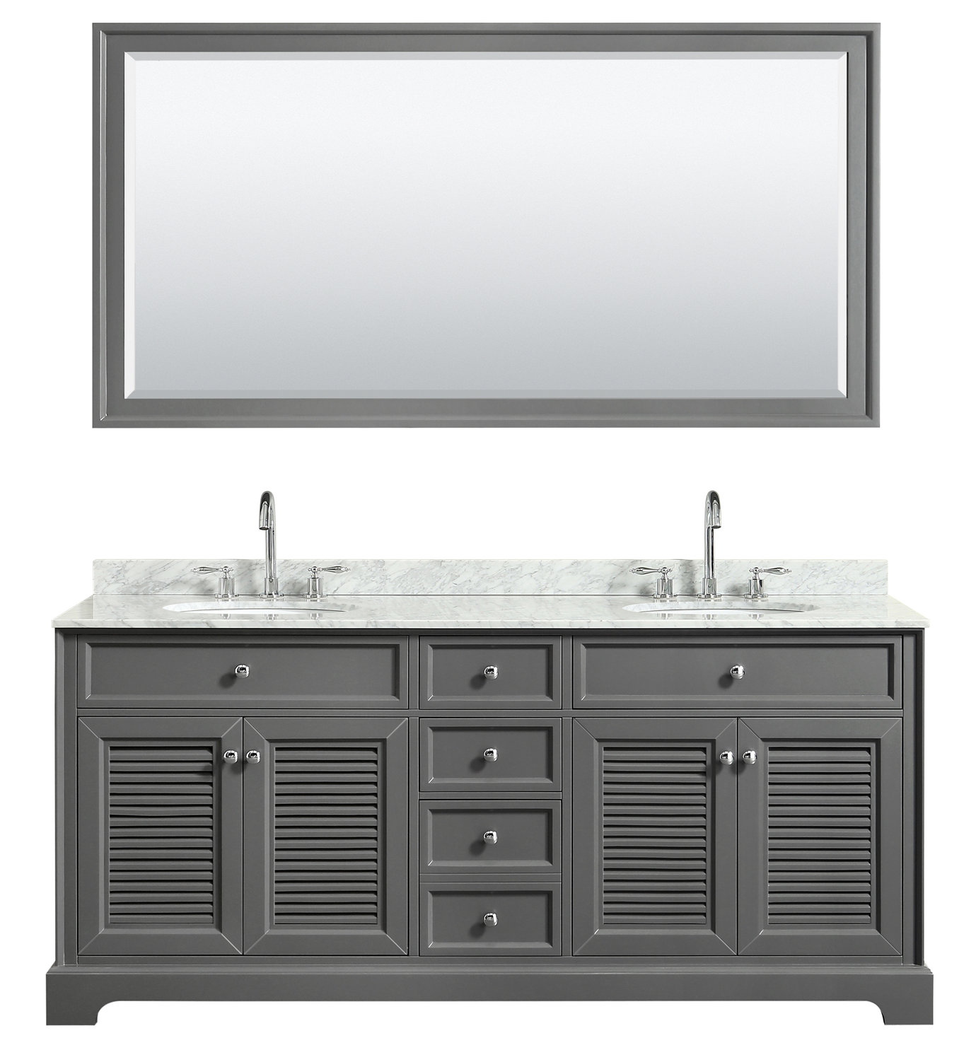 Wyndham Collection Tamara 72 Double Dark Gray Bathroom Vanity Set within dimensions 1380 X 1485