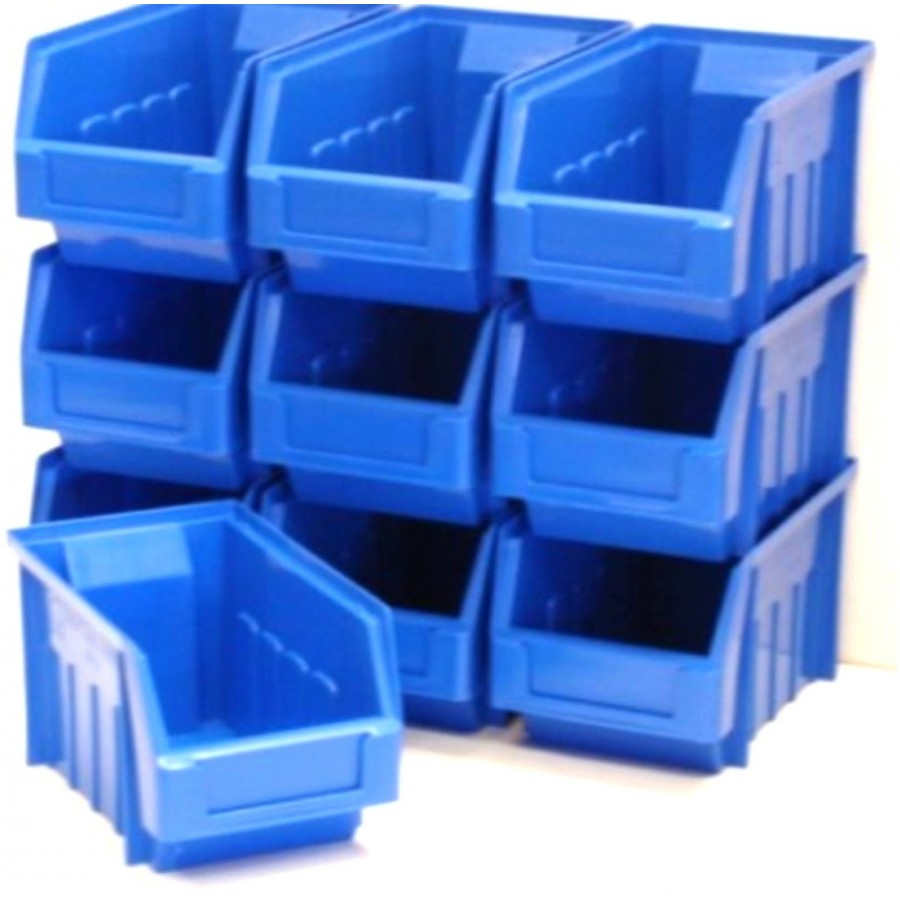 10 Blue Stacking Storage Parts Bins For Garage Storage Box Sold with regard to size 900 X 900