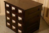 12 Drawer Oak Card Index Filing Cabinet Vinterior in sizing 1000 X 1033