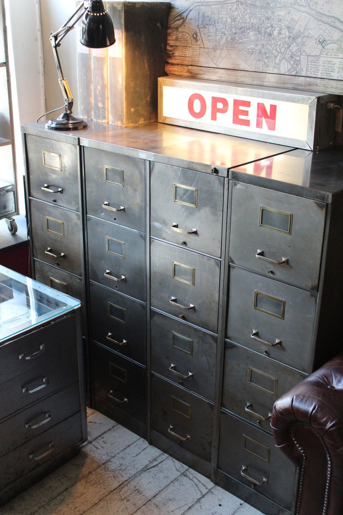1940s Filing Cabinet Bare Metalcategorieshomeofficeindustrial within measurements 1200 X 1800