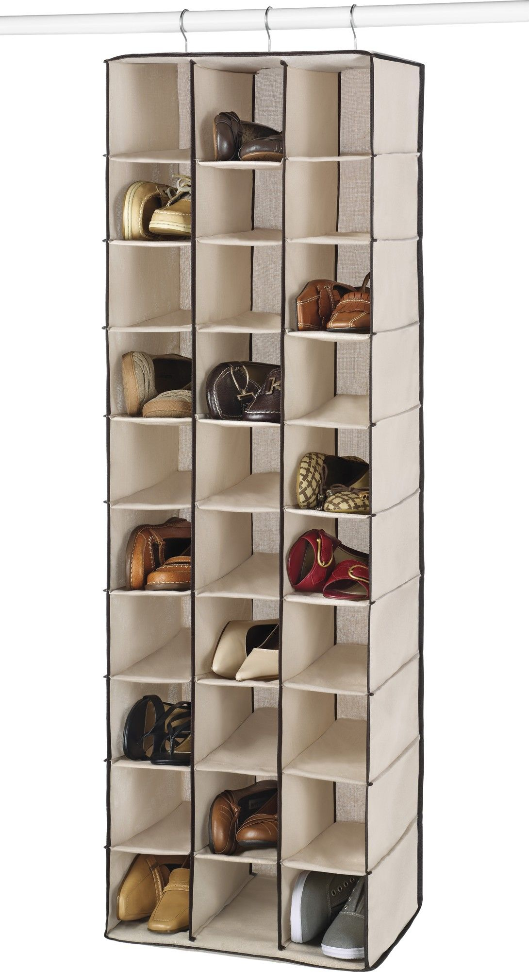 30 Pair Hanging Shoe Organizer In 2019 Apartment Shoe Shelves inside dimensions 1090 X 2000