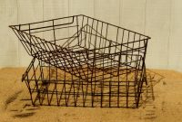 Antique Wire Baskets Rustic Wire Baskets Storage Baskets Etsy with measurements 1500 X 1073
