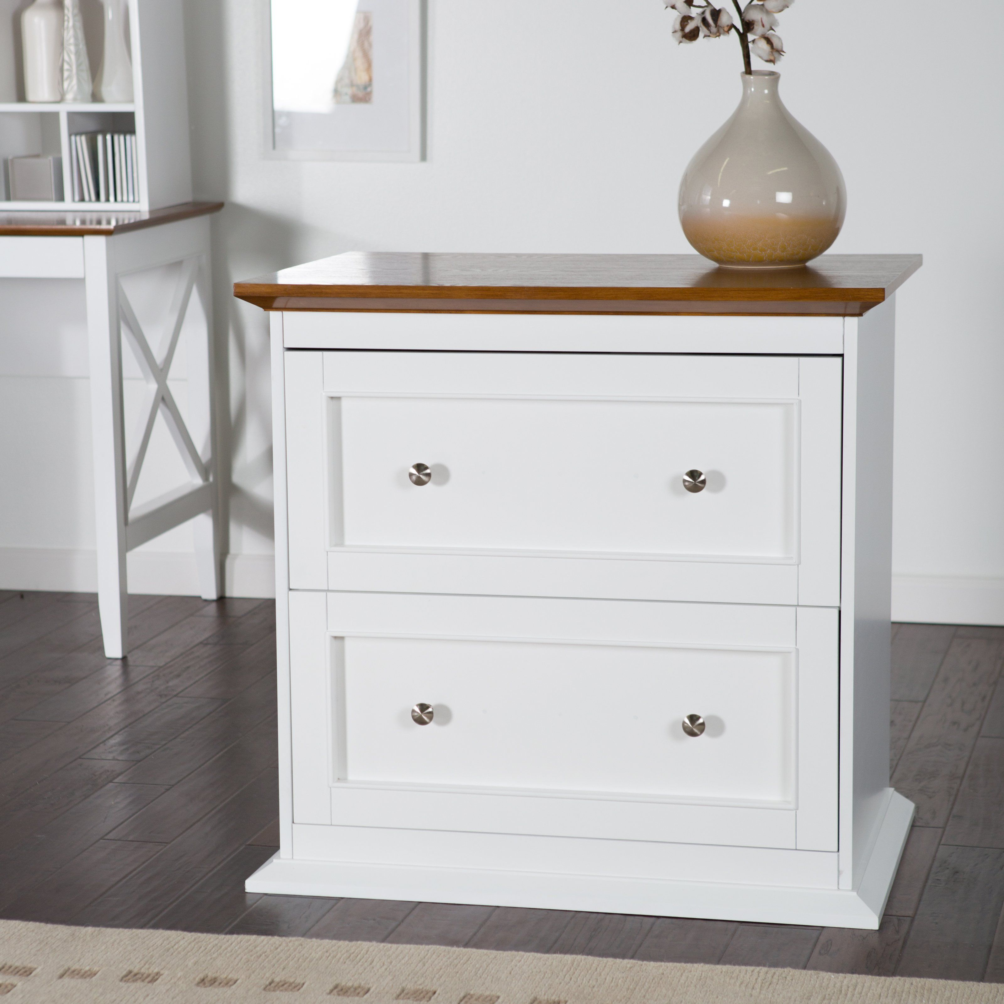 Belham Living Hampton 2 Drawer Lateral Wood File Cabinet Whiteoak inside proportions 3200 X 3200