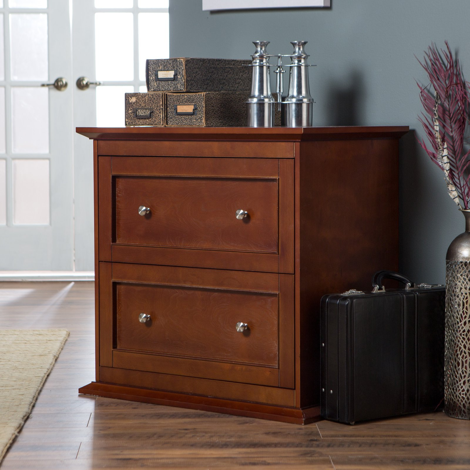 Belham Living Hampton 2 Drawer Lateral Wood Filing Cabinet Cherry intended for sizing 1600 X 1600
