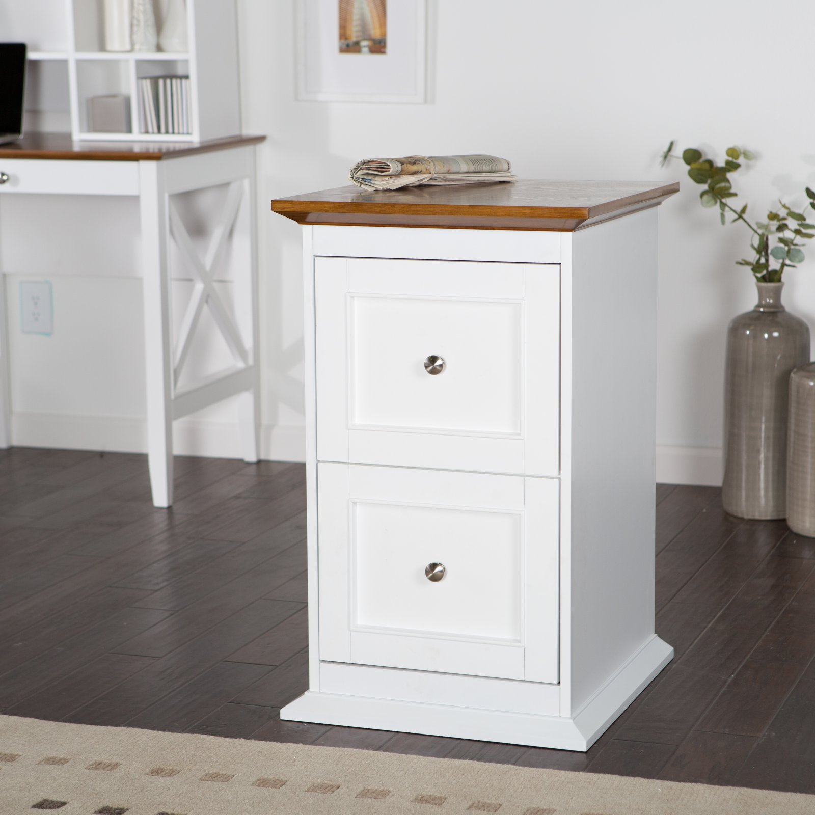 Belham Living Hampton 2 Drawer Wood File Cabinet Whiteoak intended for sizing 1600 X 1600