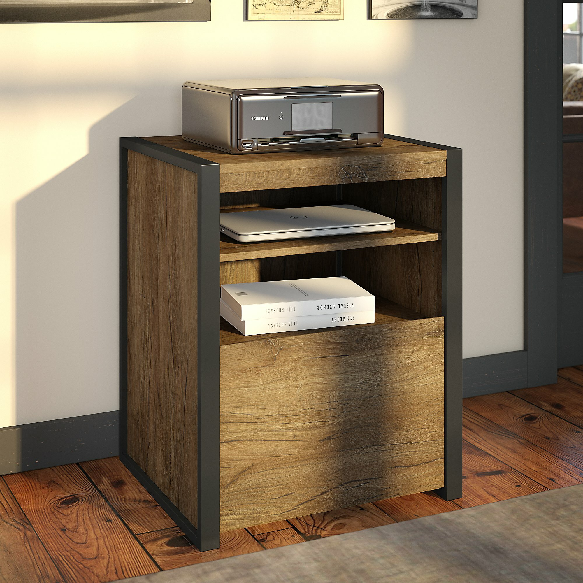 Brayden Studio Eliezer Printer Stand 1 Drawer Vertical Filing intended for size 2000 X 2000