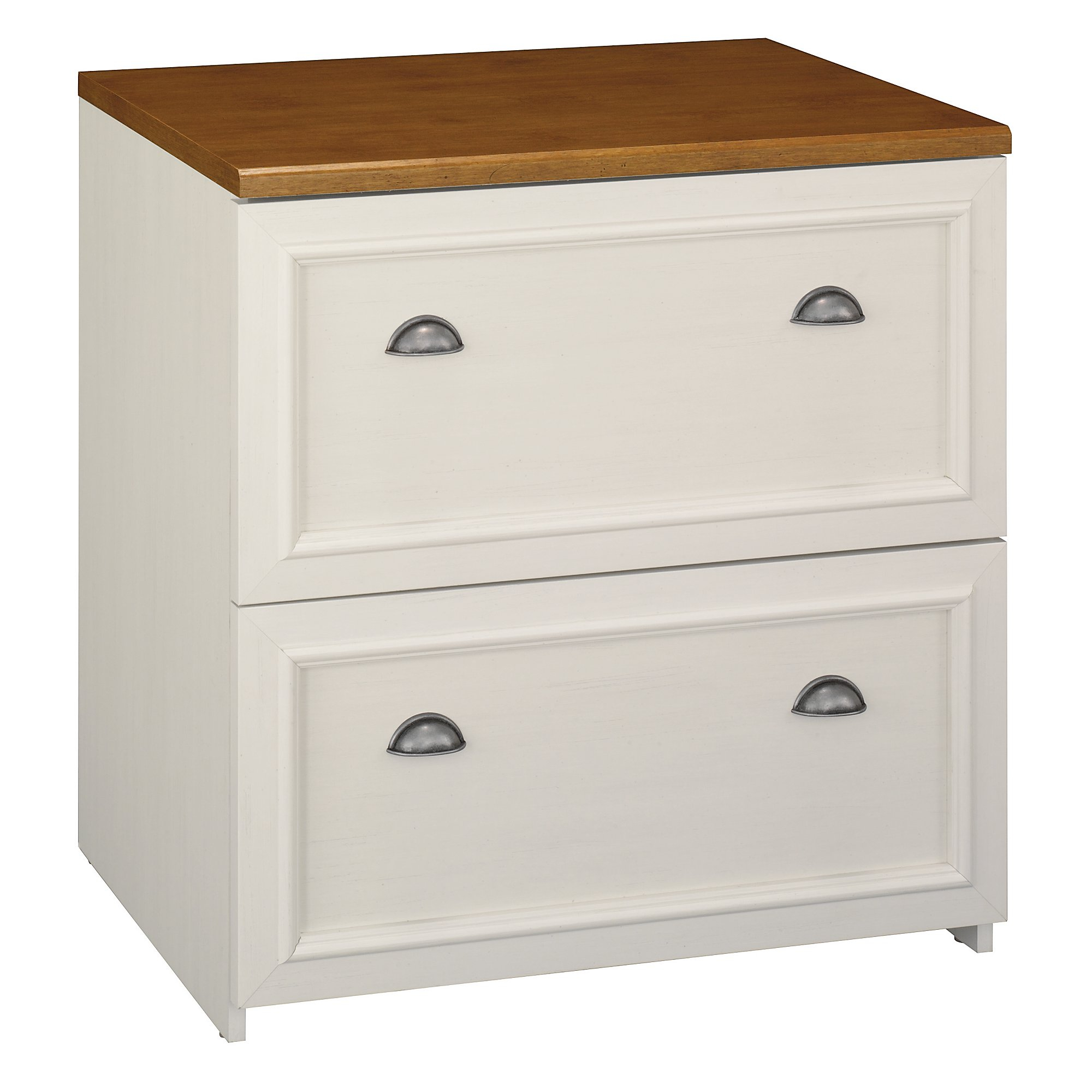 Bush Furniture Fairview Lateral File Cabinet In Antique White in proportions 2000 X 2000