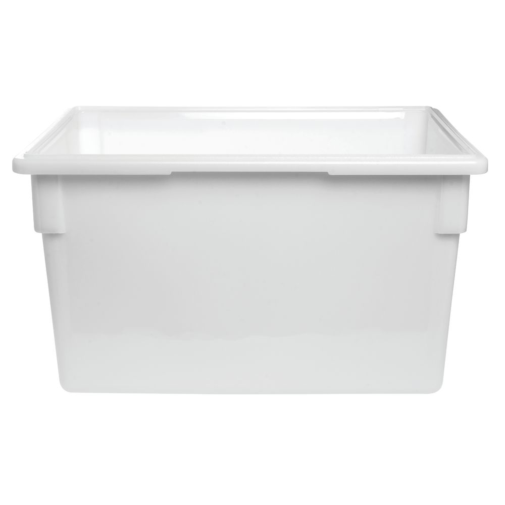 Cambro 22 Gal White Plastic Food Storage Container 26l X 18w X inside measurements 1000 X 1000