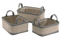 Canvas Storage Baskets Set Of 3 53185w 1 3699 Morestorage for size 1200 X 1200