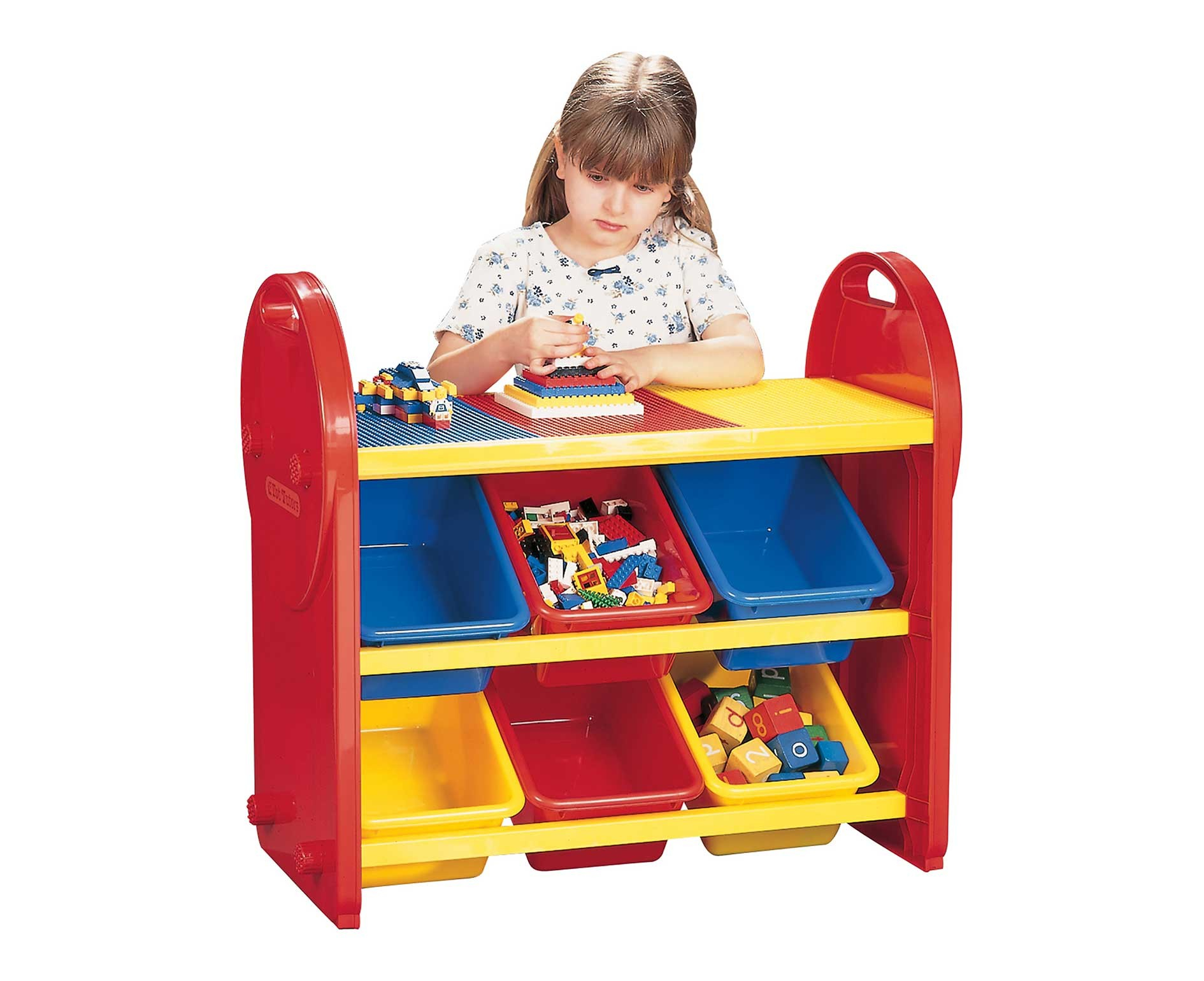 Childrens Plastic Storage 6 Bin Play Organiser Kids Table Chairs intended for dimensions 1890 X 1540