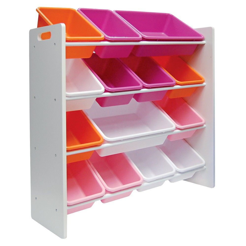 Circo 14 Bin Storage Organizer White Products Storage Bins in size 1000 X 1000