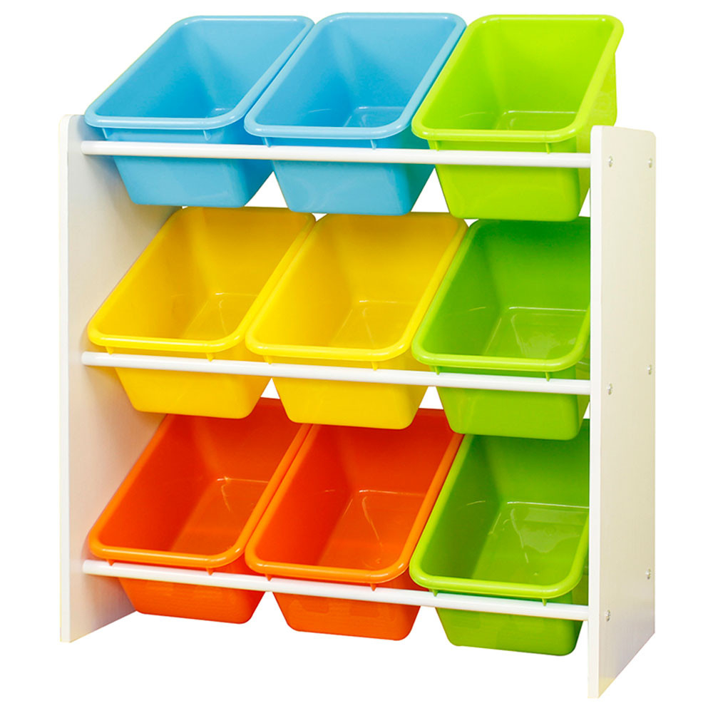 Class Toy Storage Organizer With 9 Plastic Bins Small inside measurements 1000 X 1000