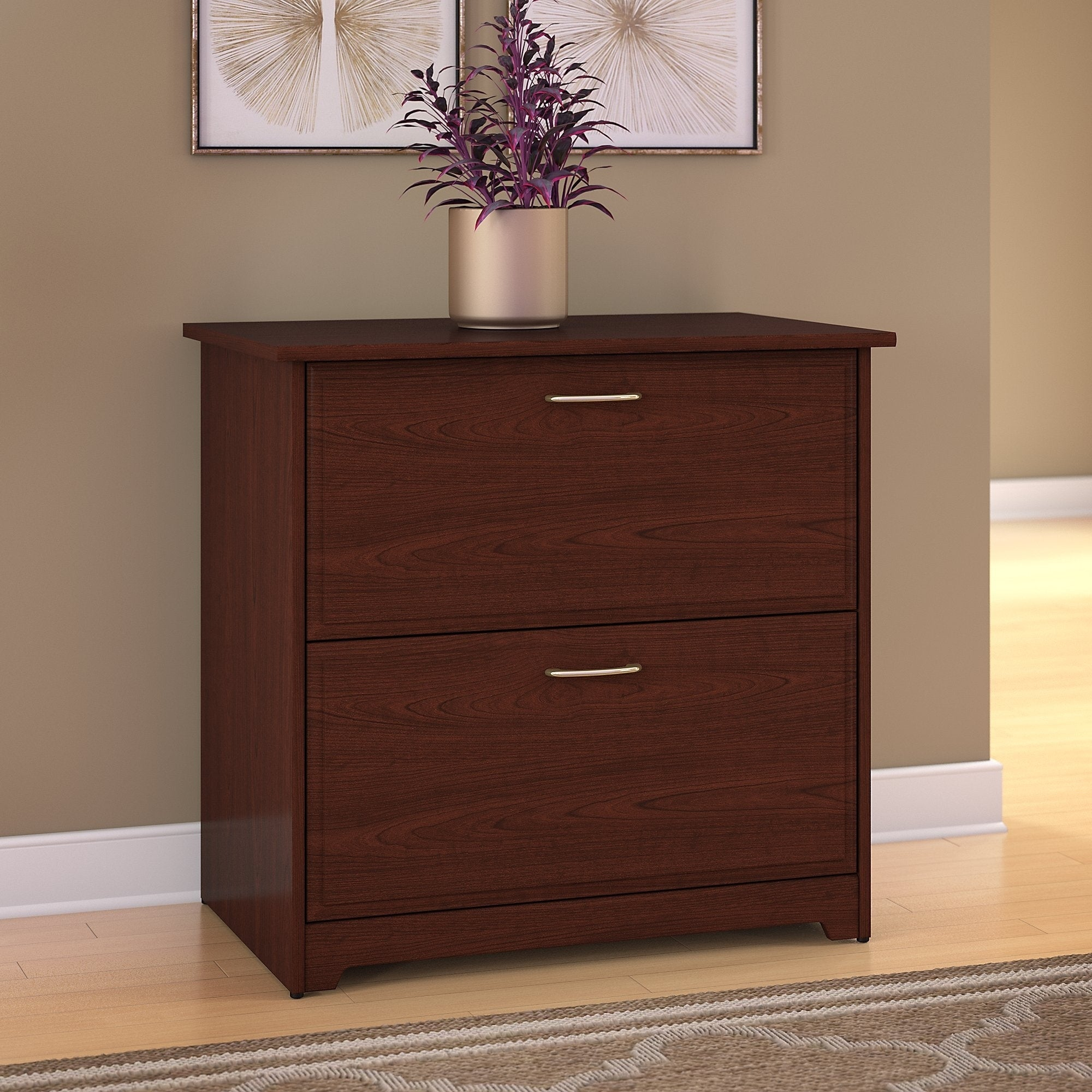 Copper Grove Daintree Lateral File Cabinet In Harvest Cherry for size 2000 X 2000