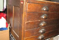 Gorgeous Antique Dark Oak Architects Flat File Cabinet Collectors for sizing 1200 X 900